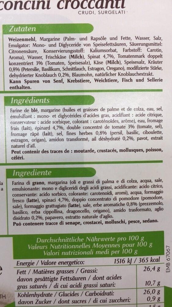Kauffer's Bouchées apéro croustillantes - Ingredients