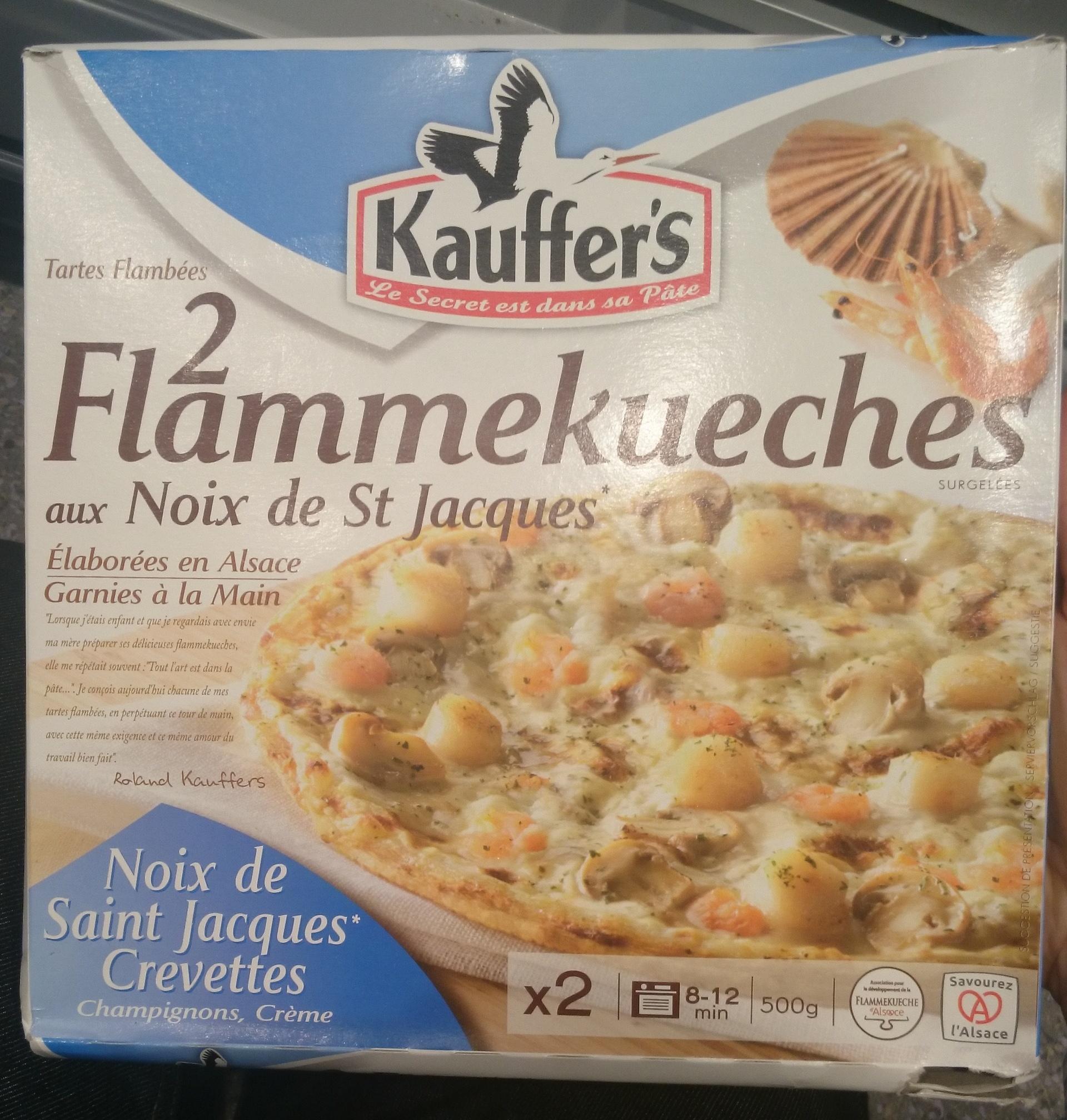 Flammekueches aux Noix de St Jacques - Produit - fr