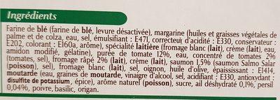 Tartelettes apéritives - Ingredients
