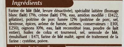 10 Flammekueches alsaciennes lardons oignons - Ingrédients