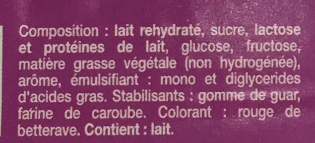 Glace artisanale - Ingrediënten