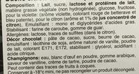 Bûche glacée Citron Violette - Ingrédients