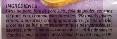 Mousse de foie forestière - Ingrédients - fr