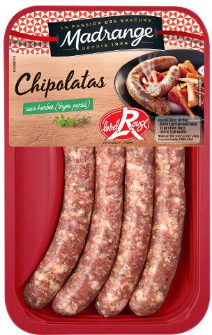 Les chipolatas aux herbes Label Rouge - Produkt - fr