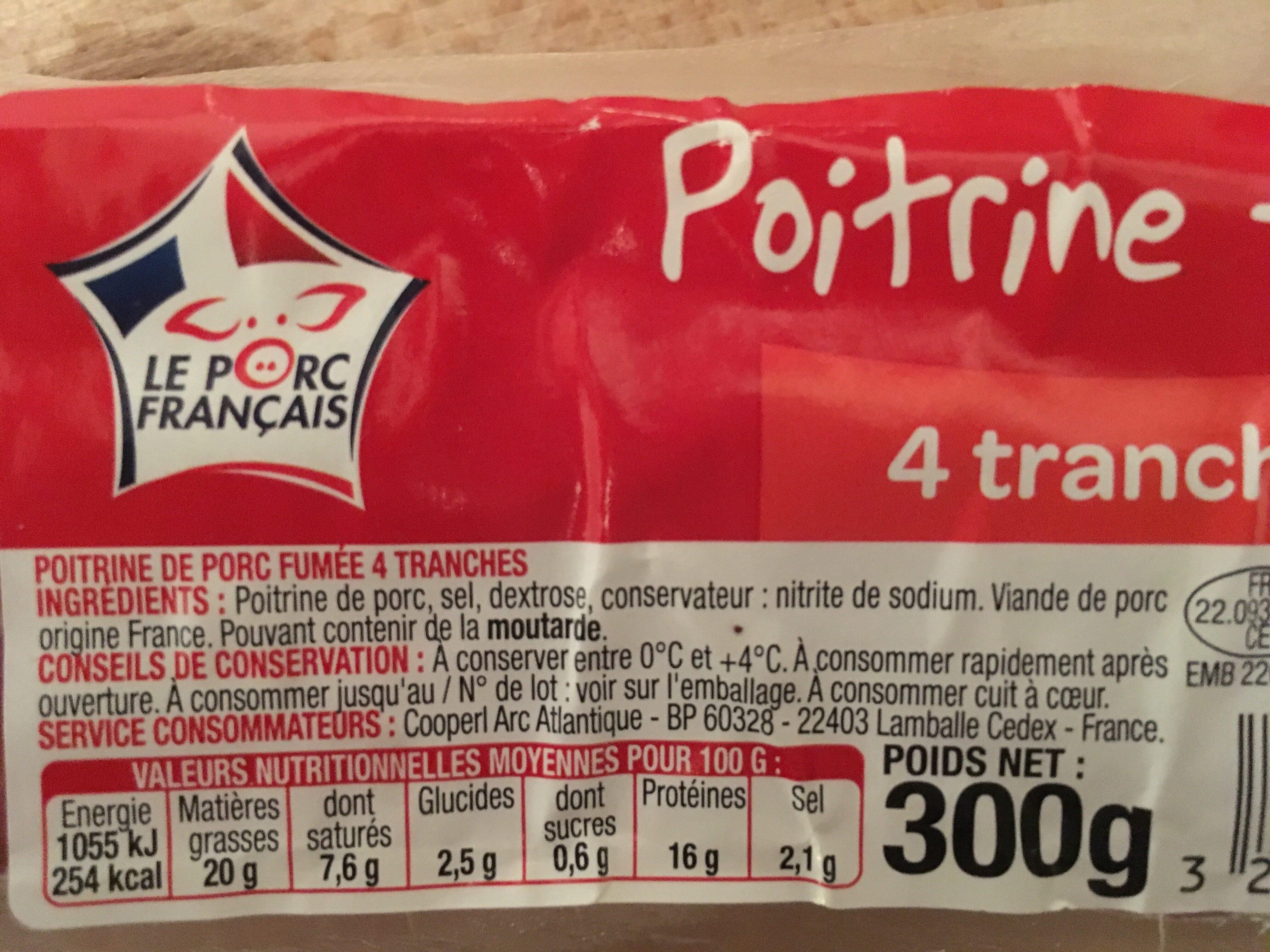 Poitrine fumee - Ingrédients - fr