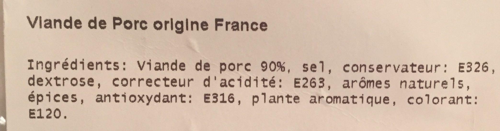 Chair pur porc - Ingrédients - fr