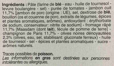Royale - Ingrédients - fr