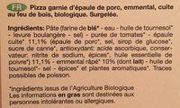 Pizza Surgelee Epaule-emmental - Ingredients