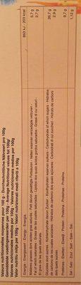 Pizza Surgelee Epaule-emmental - Nutrition facts