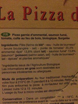 PIZZA SURGELEE SAUMON FUME - Ingrédients - fr