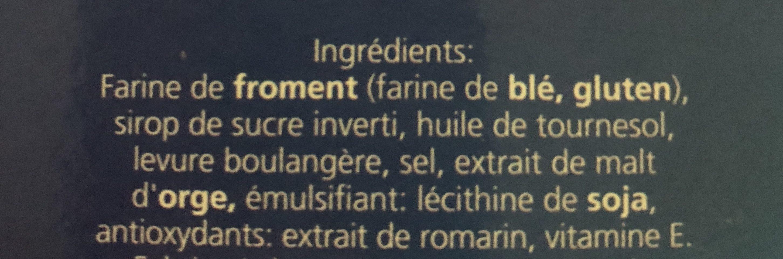 Biscotte Aixoise - Ingrédients