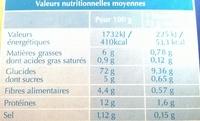 Biscotte fine et légère - Voedingswaarden - fr