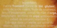 Biscotte Aixoise très pauvre en sel - Ingrédients - fr