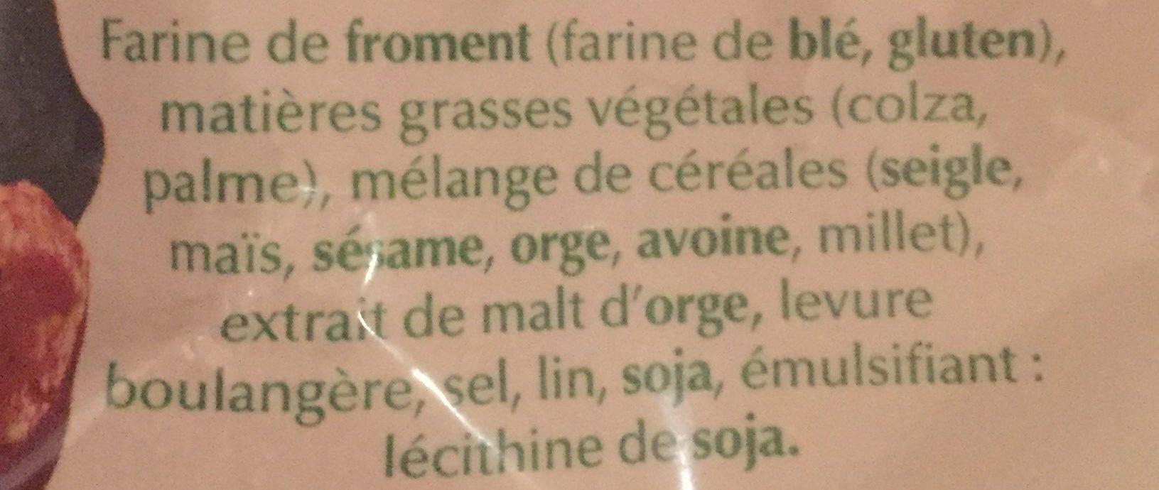 Mini-Toasts Grillés - Ingrédients - fr