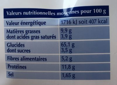 Tartines Aixoises Grillées Roger - Voedingswaarden - fr