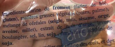 Mini toasts Special Traiteur ROGER - Ingrédients - fr