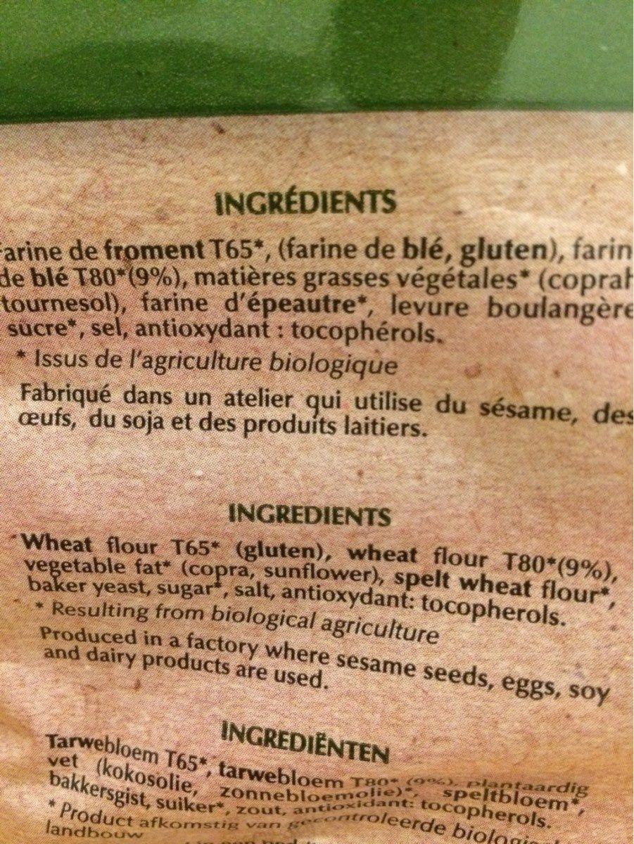 Baguette Ficelle - Ingrédients - fr