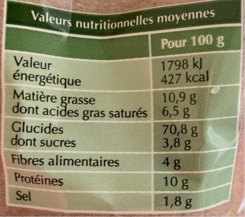Baguette Ficelle - Informations nutritionnelles - fr