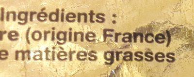 Beurre Doux Plaquette - Ingrediënten - fr