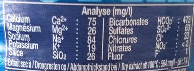 Cristaline - Informations nutritionnelles - fr