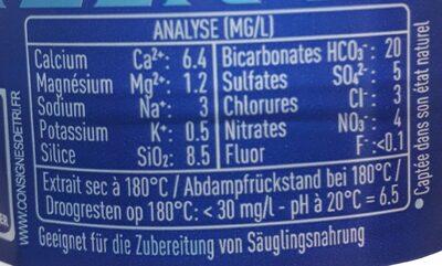 Cristaline - Información nutricional - ro