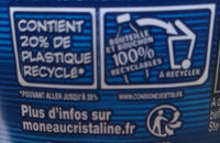 Cristaline - Recycling instructions and/or packaging information - fr