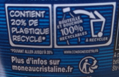 Eau De Source - Recycling instructions and/or packaging information - fr