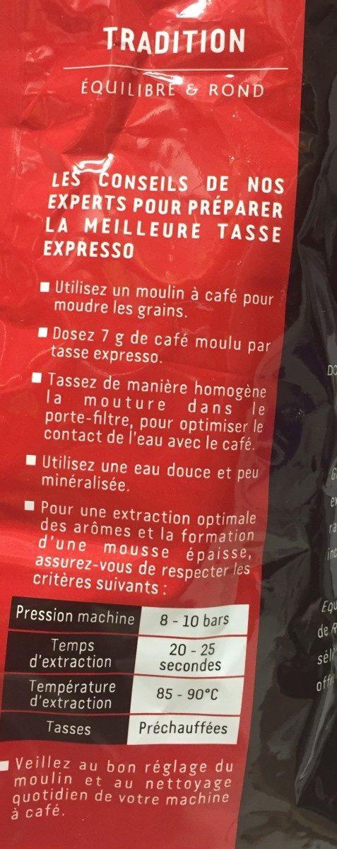 Cafe TRADITION - Ingredienti - fr