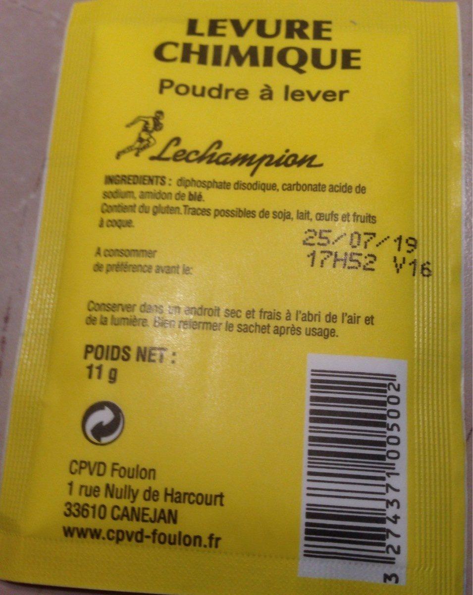 Levure chimique - Prodotto - fr