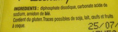 Levure chimique - Ingredienti - fr