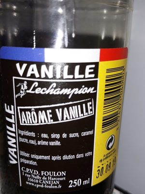 Arome vanille - Ingredients - fr