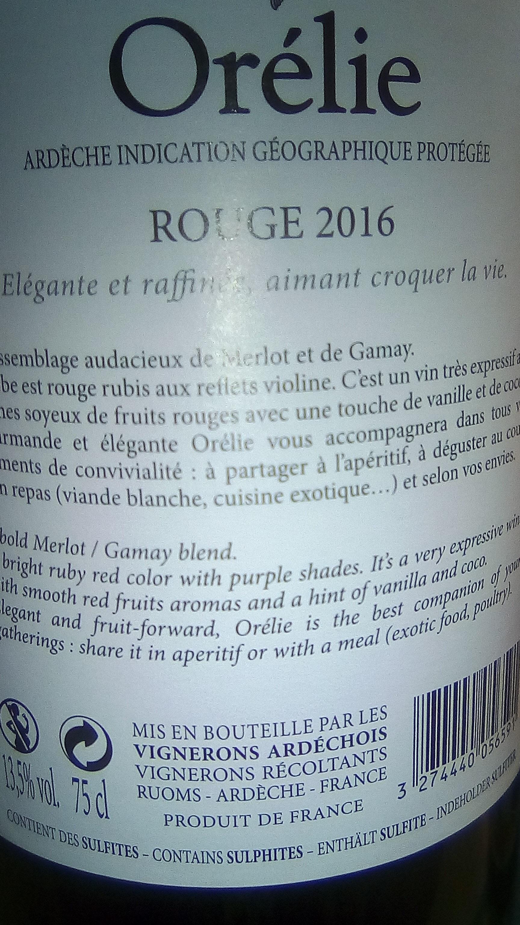 Orélie - Ingredients - fr
