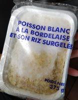 Poisson Blanc à la Bordelaise et son Riz Surgelés - Product - fr