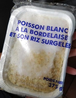 Poisson Blanc à la Bordelaise et son Riz Surgelés - Product