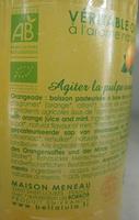 Véritable orangeade Bio - Ingredients - fr