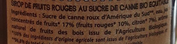 50CL Sirop De Fruits Rouges - Ingredienti - fr