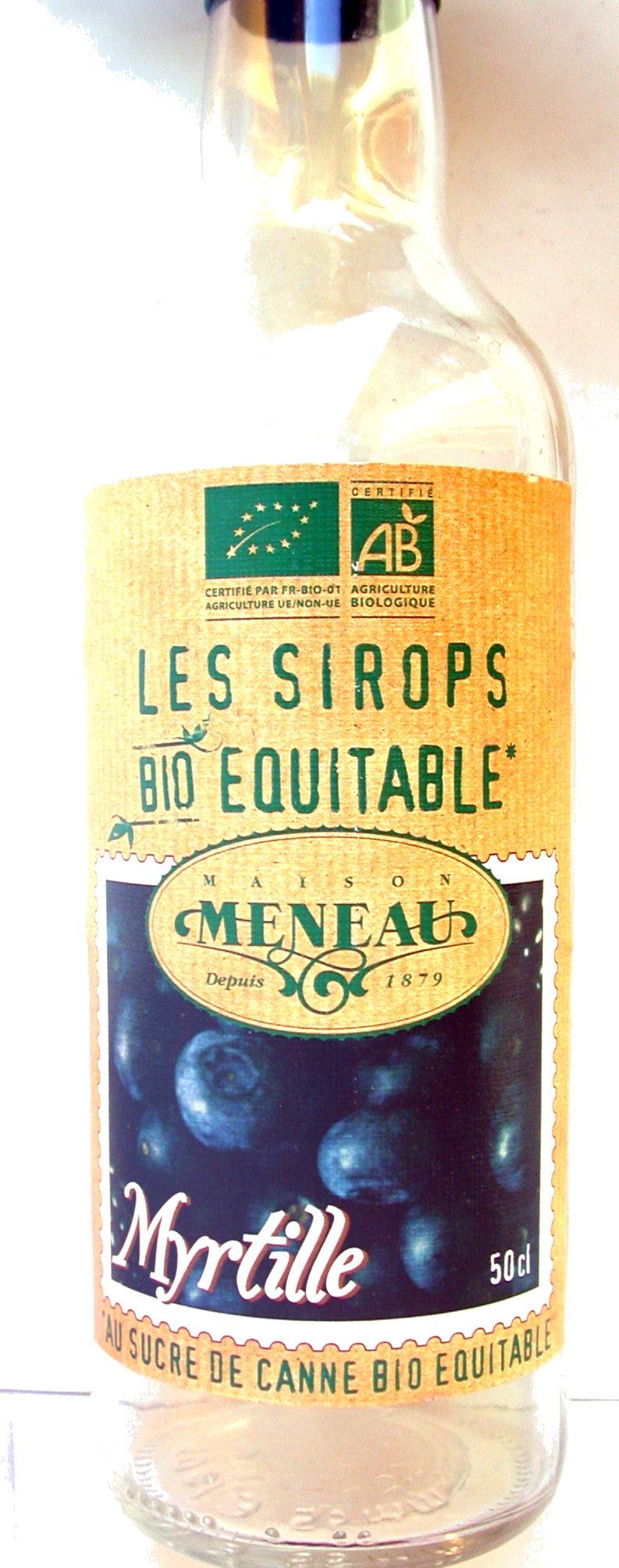 Sirop de Myrtille au sucre de canne Bio Equitable - Produit - fr
