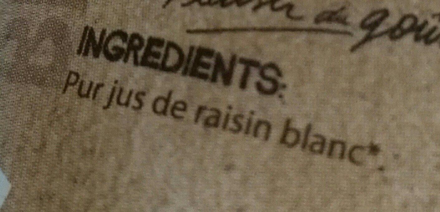 Pur Jus de Raisin Blanc Bio - Ingredienti - fr