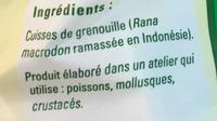 Cuisses de grenouille congelées - Ingrédients - fr