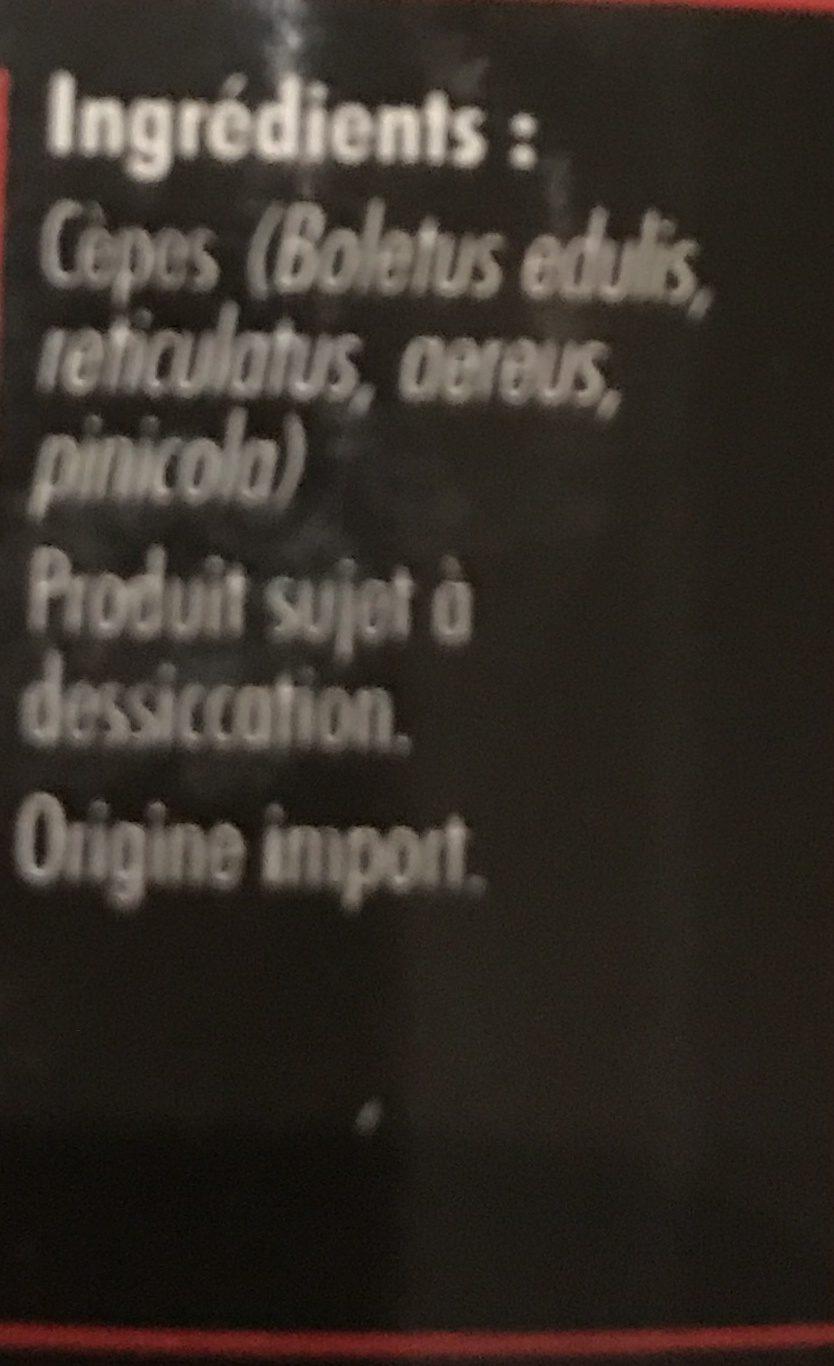 Cèpes extra - Ingrédients - fr