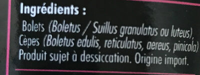 Champignons secs - Ingredienti - fr