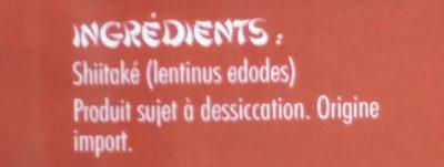 Shiitakes - Ingredients - fr