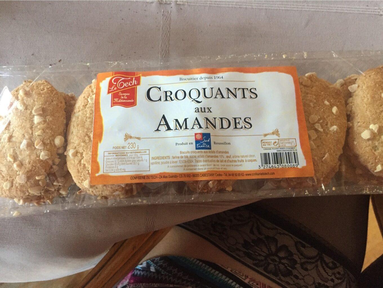 Croquants Sud de France Eclats amandes - Nutrition facts