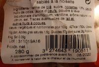 Croquandises - Nutrition facts - fr