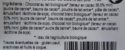 Poule ou Œuf ou Cloche en Chocolat Bio - Ingredients - fr