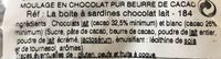 Moulage en chocolat - Ingredients
