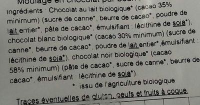 Tech éléphant choco - Ingredienti - fr