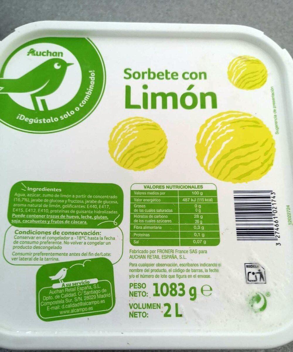 Sorbete con limón - Product - es