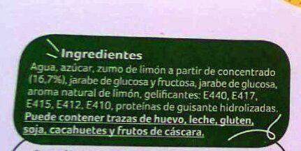 Sorbete con limón - Ingredients - es