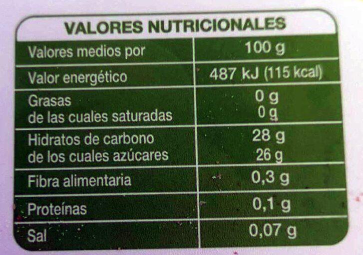 Sorbete con limón - Nutrition facts - es